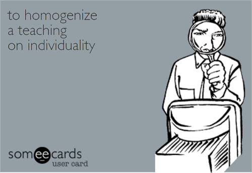 ToHomogenizeATeachingOnIndividuality