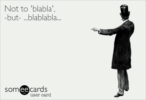 NotToBlablaButBlaBlaBla