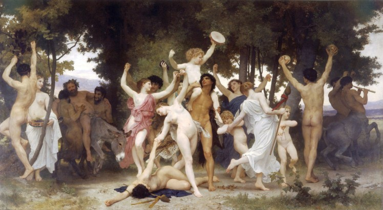 William Adolphe Bouguereau - the youth of Bacchus